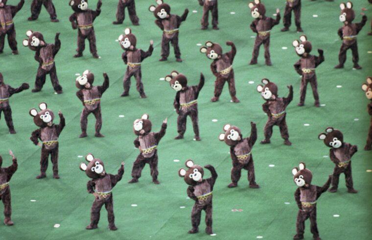 A moszkvai olimpia megnyitó ünnepsége. Minden rendben lezajlott. #moszkvater