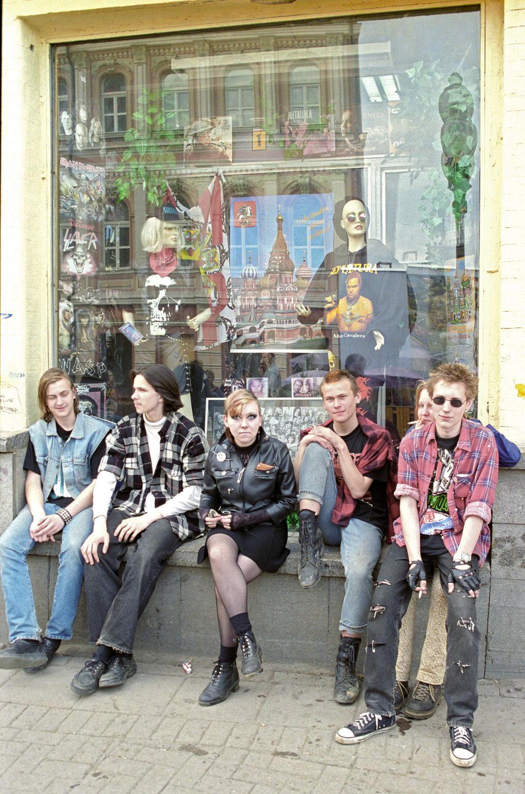 Fiatalok a régi Arbaton 1998-ban #moszkvater