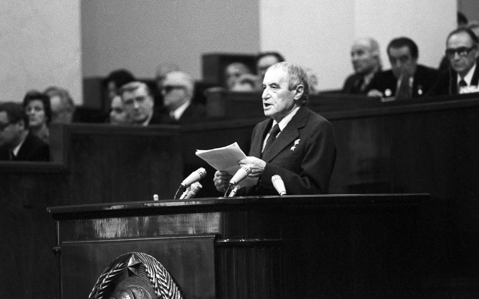 Valentyin Katajev a Kremlben beszél 1977-ben #moszkvater