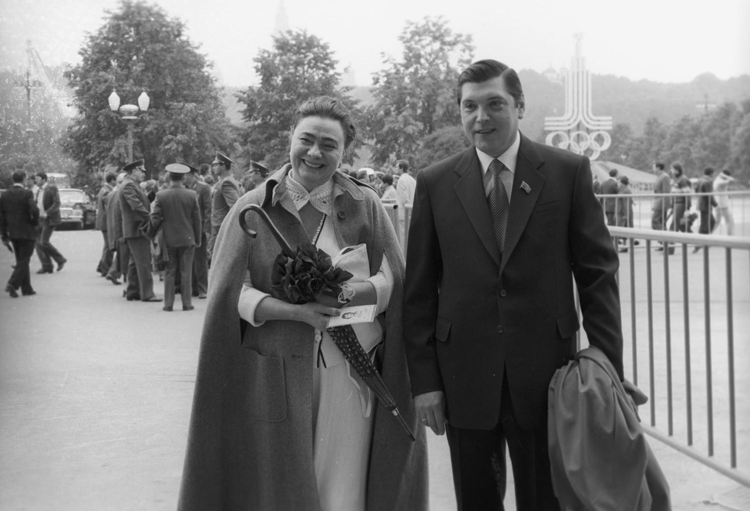 Galina Brezsnyeva és Jurij Csurbanov 1988-ban #moszkvater