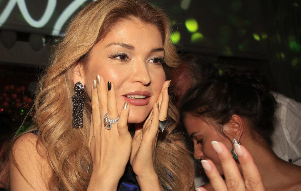 Gulnara Karimova egy szardíniai divatbemutatón 2012-ben #moszkvater