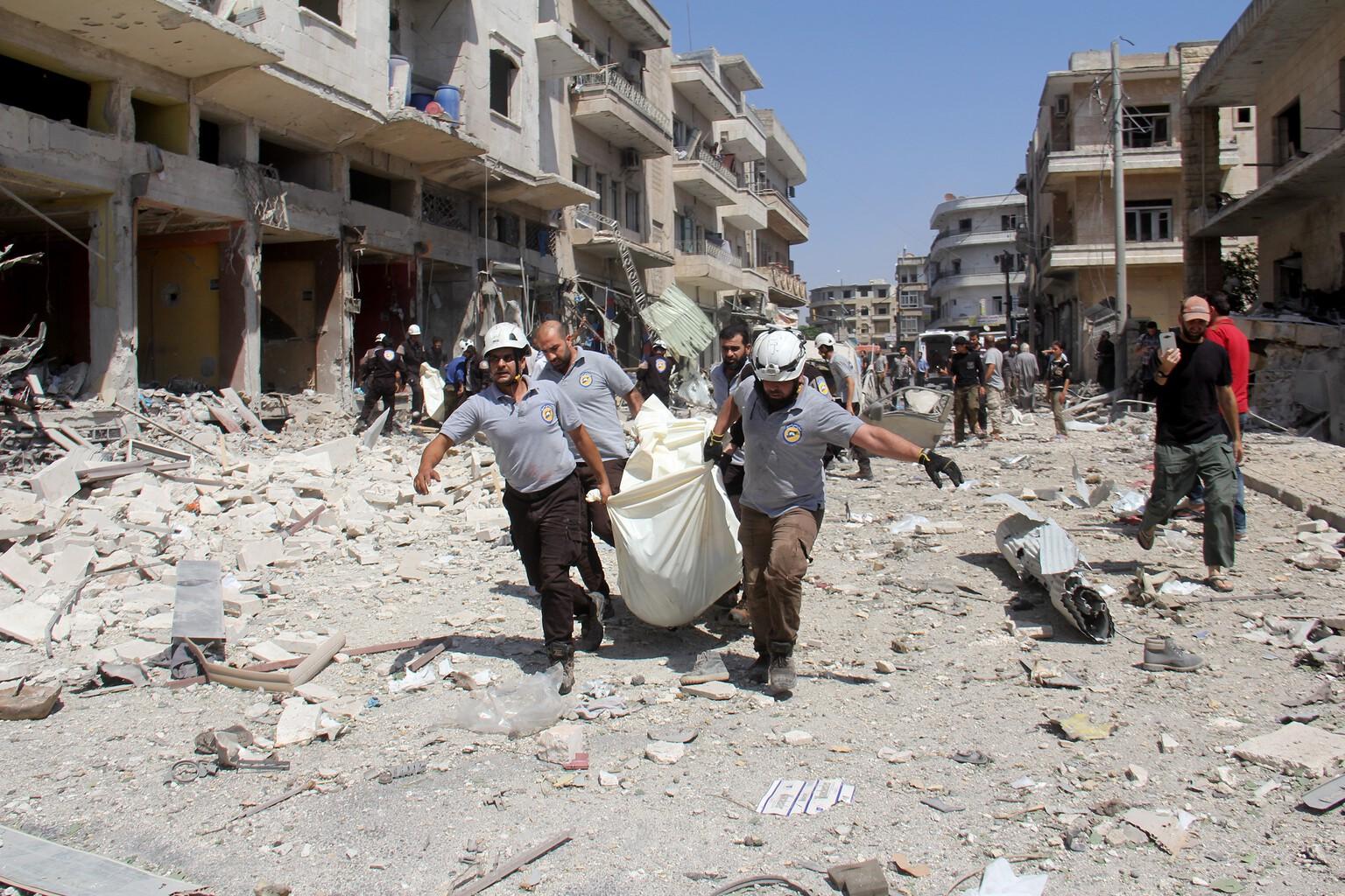 Aleppo, orosz bombázás után 2016-ban #moszkvater