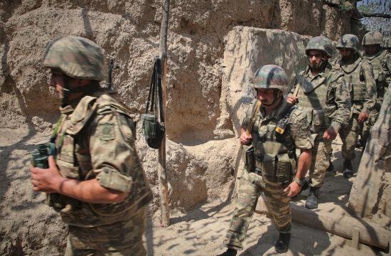 Azeri járőrcsapat az örmény határ közelében Tovuz régióban 2020. július 18-án #moszkvater