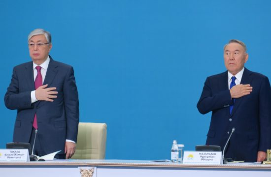 Tokajev és Nazarbajev a Nur Otan párt kongresszusán Asztanában 2019. április 23-án #moszkvater