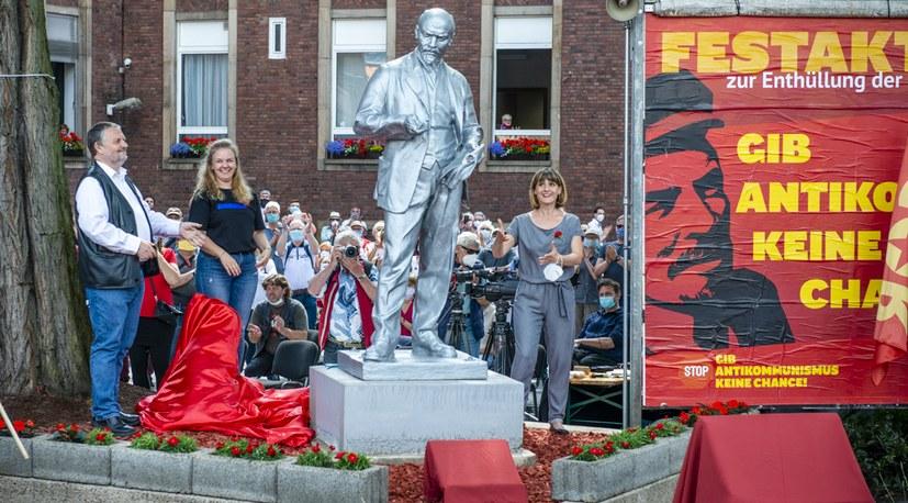 Lenin szobrot állított az MLPD párt Gelsenkirchenben #moszkvater