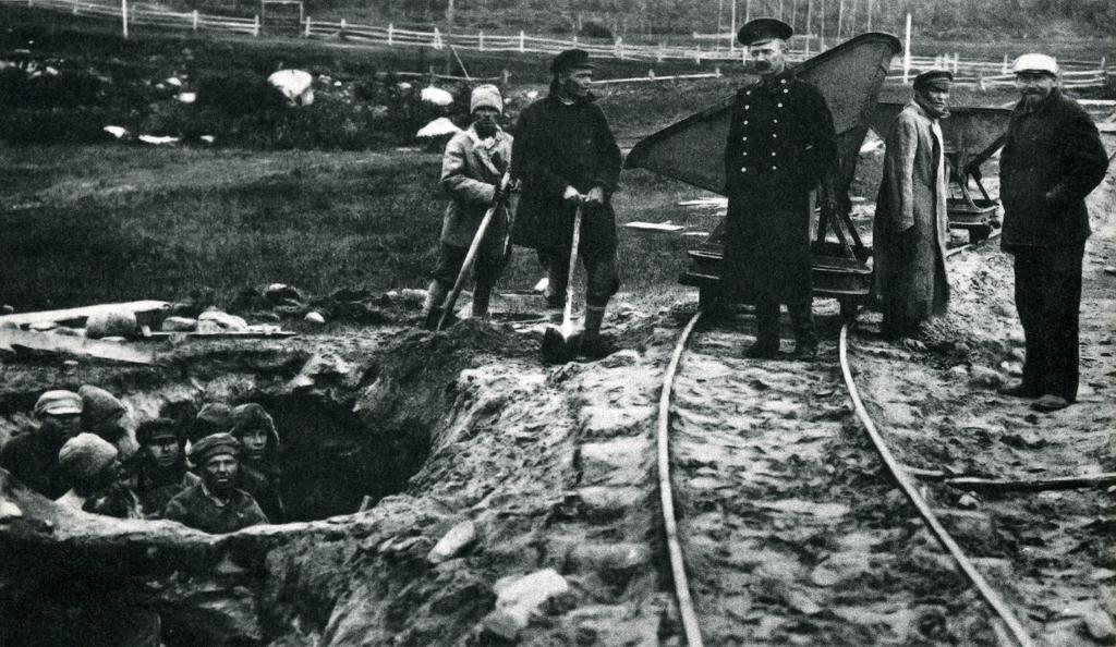 Rabok és őreik egy Gulag-táborban 1925 körül #moszkvater
