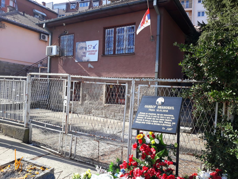 Oliver Ivanovics pártjának központja Mitrovicában, ahol meggyilkolták a politikust #moszkvater
