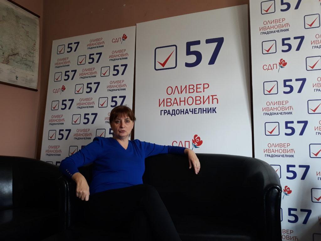 Kszenija Bozsovics, a Szerbia Demokrácia Igazság polgári kezdeményezés Kosovska Mitrovica-i koordinátora #moszkvater
