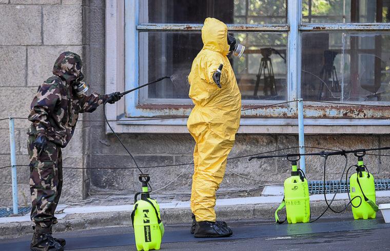 Vírusvédelmi gyakorlat a budapesti Kútvölgyi kórházban 2020. augusztus 27-én #moszkvater