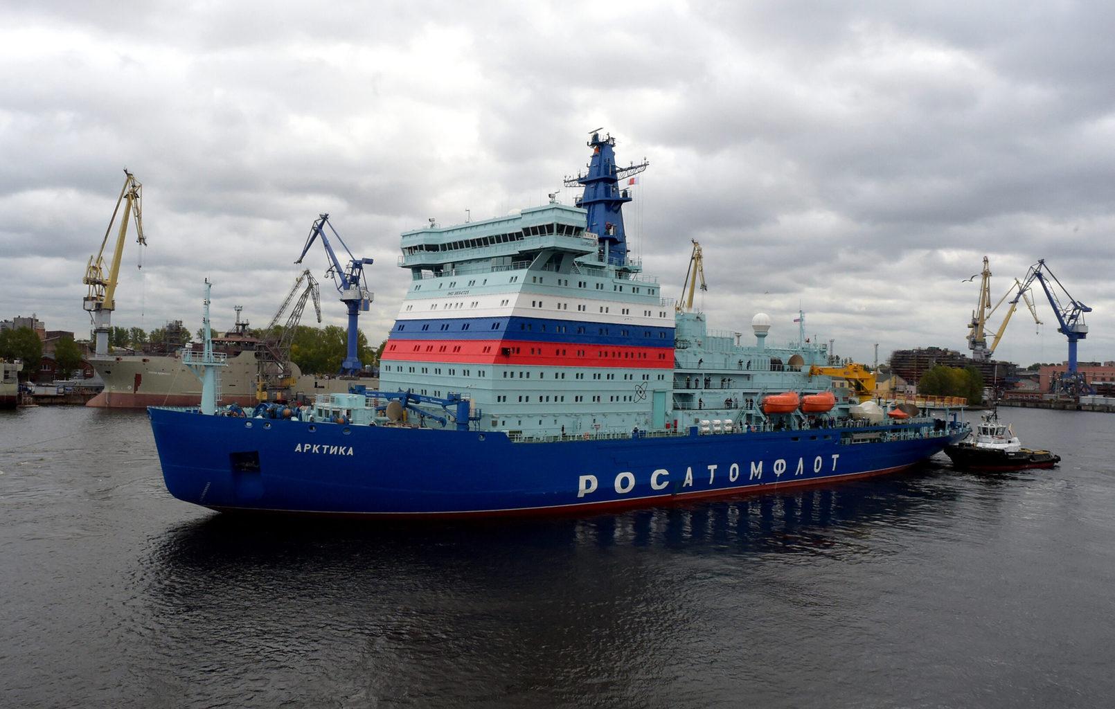 Az Arktika atomjégtörő Szentpétervár kikötőjében 2020. szeptember 22-én #moszkvater