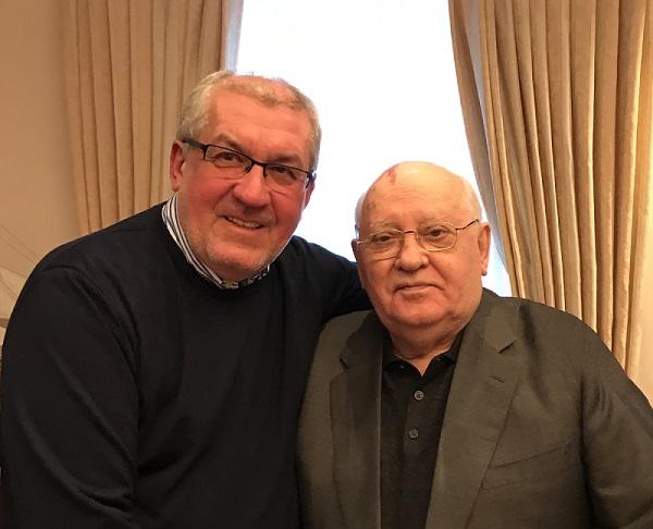 Zolcer János és Mihail Gorbacsov 2019-ben #moszkvater