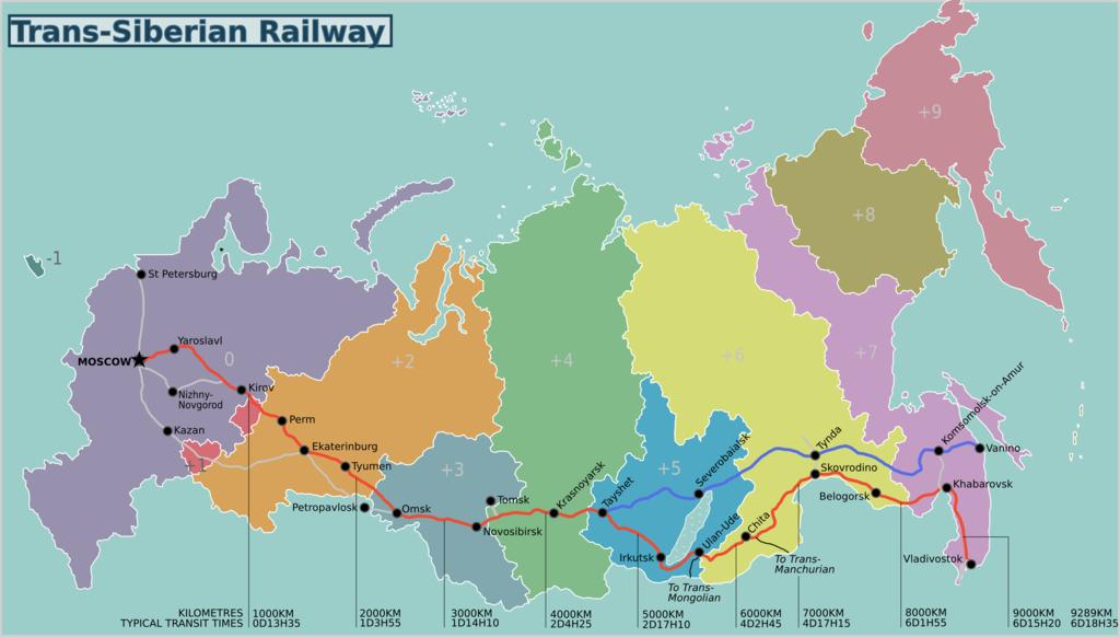 A Transszibériai vasút útvonala #moszkvater