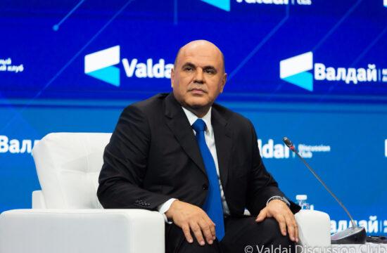 Mihail Misusztyin a Valdaj Klub éves találkozóján 2020. október 20-án Moszkvában #moszkvater