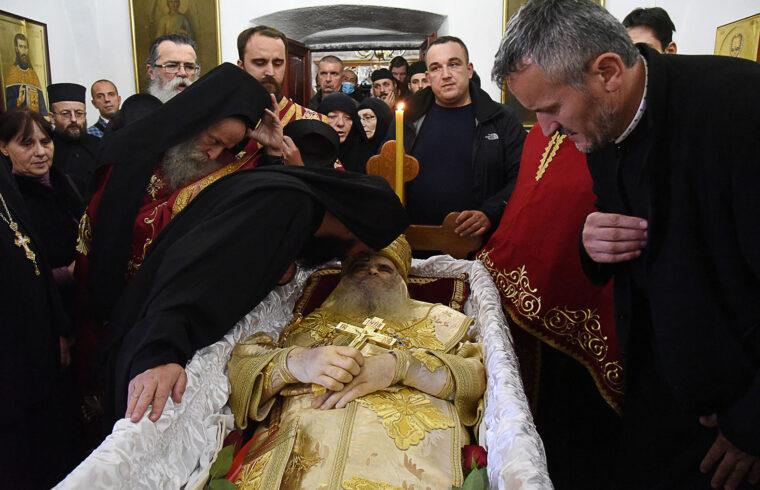 Amfilohije pátriárka temetése a Cetinje monostorban Montenegroban, 2020. október 30-án #moszkvater