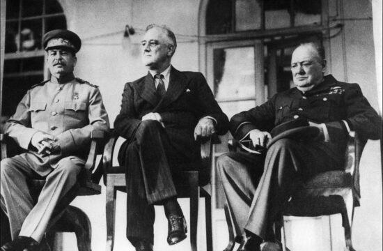 Sztálin, Roosevelt és Churchill a teheráni konferencián 1943. november 28-án #moszkvater