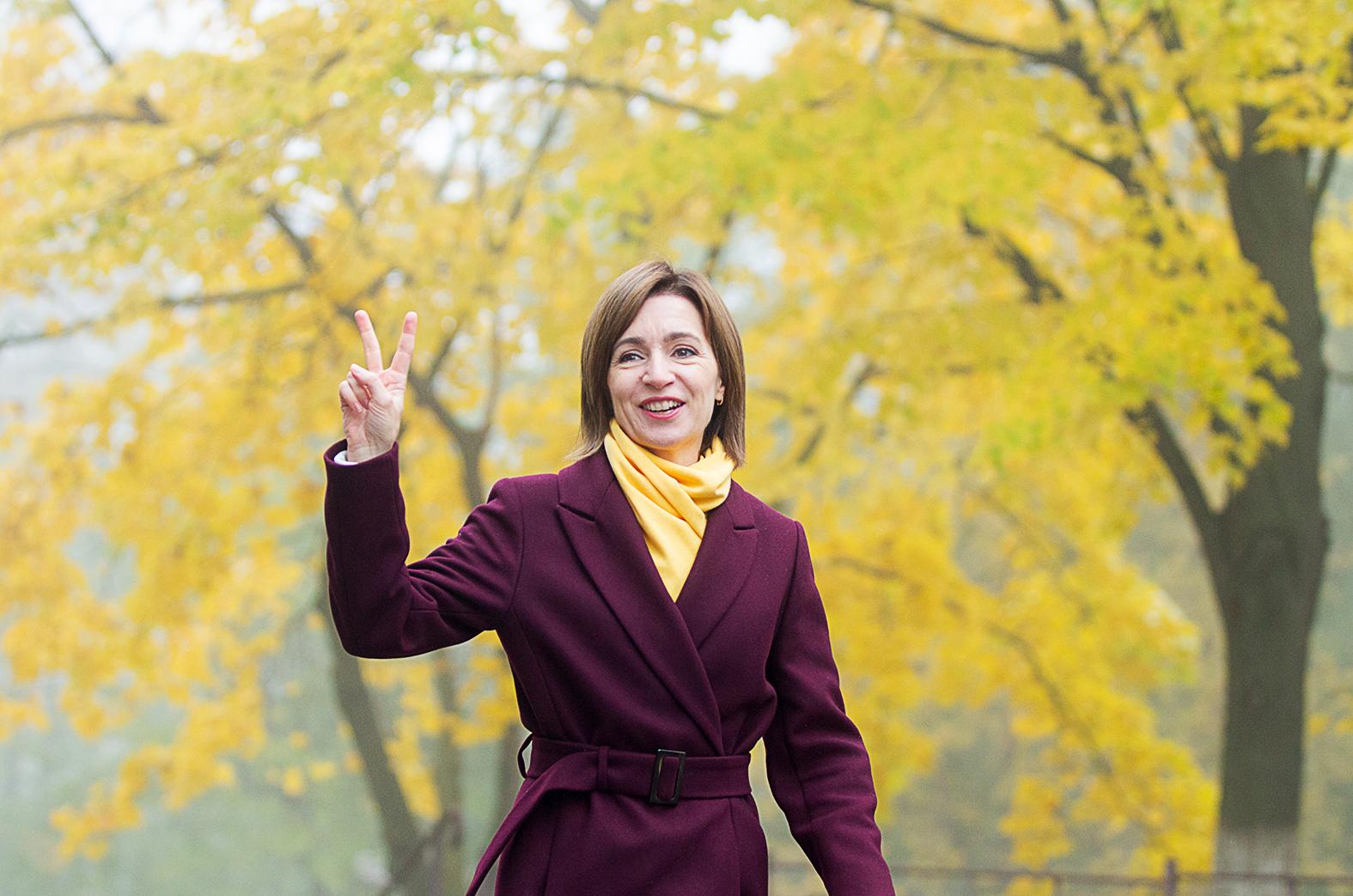 Maia Snadu magabiztosan, 15 százalékos különbséggel nyerte a moldovai elnökválasztás második fordulóját 2020. november 15-én #moszkvater