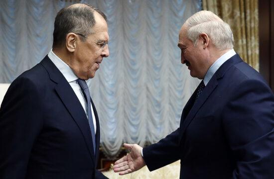 Szergej Lavrov orosz külügyminiszter és Alekszandr Lukasenko belarusz elnök találkozója Minszkben 2020. november 26-án #moszkvater