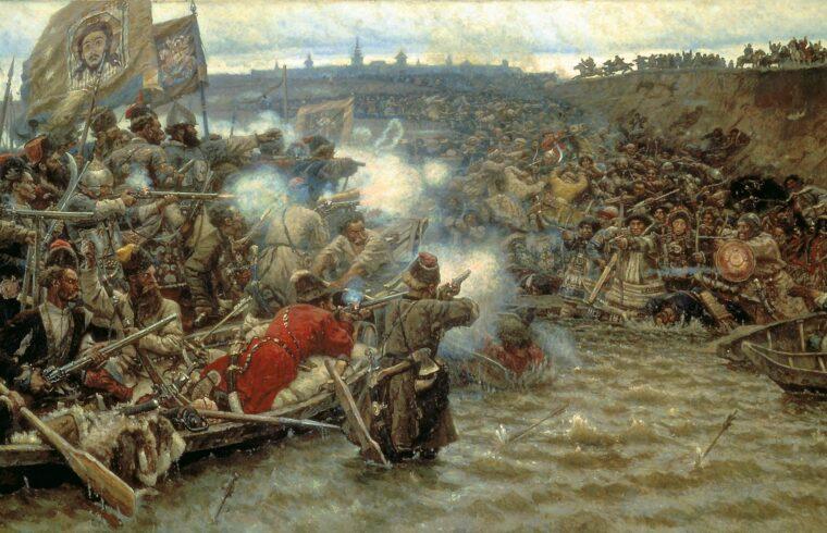 Vaszilij Szurikov festménye az iszkeri csatáról #moszkvater