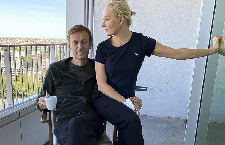 Alekszej Navalnij és felesége Júlia Berlinben, 2020. szeptember 20-án #moszkvater