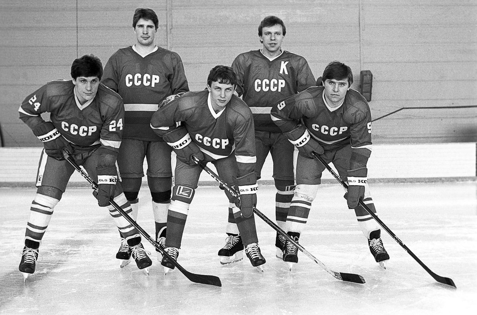 """""""A Kaszatonov, Fetyiszov, Krutov, Larionov, Makarov alkotta sorra, mint minden idők legerősebb kezdő ötöseként emlékeznek a jégkorong szakértők"""" #moszkvater"""
