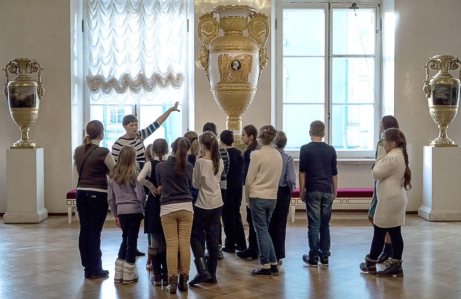 Látogatók a szentpétervári Ermitázs múzeumban 2014-ben #moszkvater