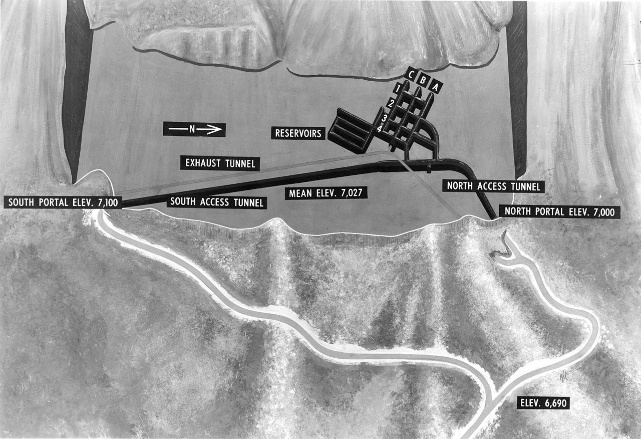 Az Észak-Amerikai Légvédelmi Parancsnokság Cheyenne-hegyi komplexumának felépítését bemutató sematikus ábra #moszkvater