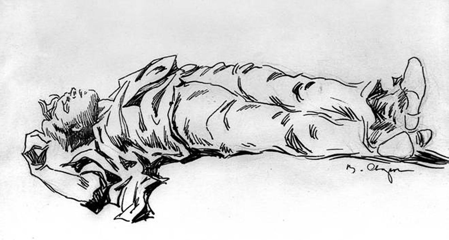A halott Szergej Jeszenyin Szvarog rajzán #moszkvater