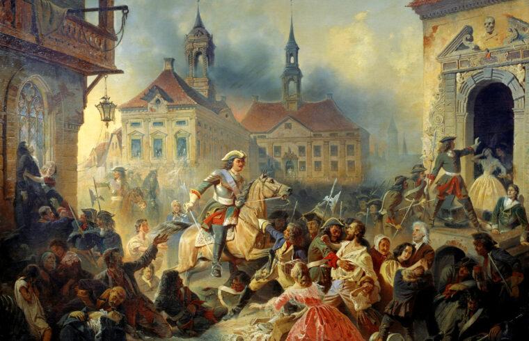 I. Péter orosz cár 1704-ben Narva visszafoglalásakor. Nikolay Sauerweid festménye 1859 #moszkvater