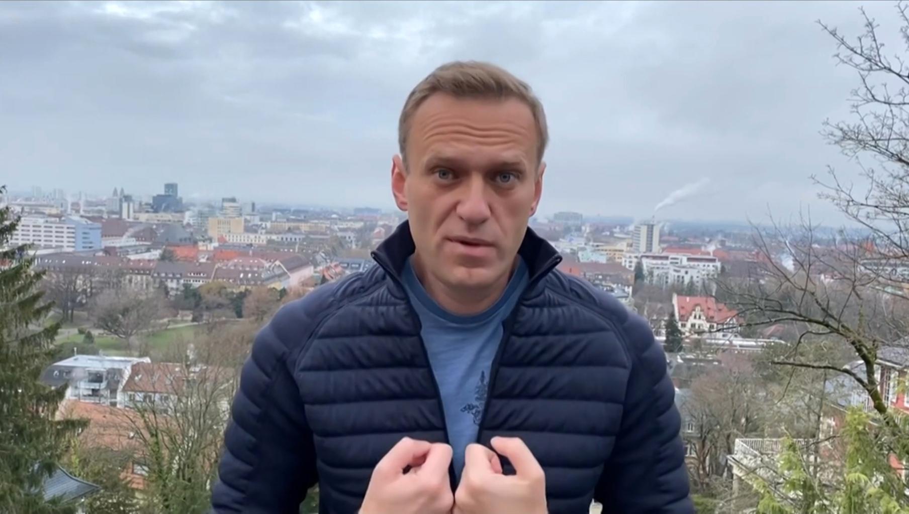 Alekszej Navalnij 2021. január 13-án az Instagramra posuzolt videót magáról #moszkvater