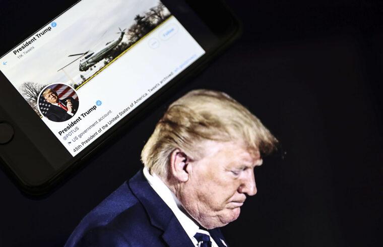 """Törölte a Twitter Donald Trump profilját, míg a Facebook """"csak"""" felfüggesztette #moszkvater"""