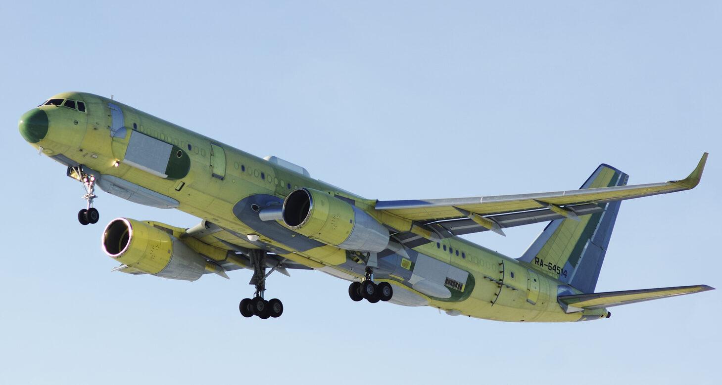 Festetlen Tu-214R felszállása #moszkvater
