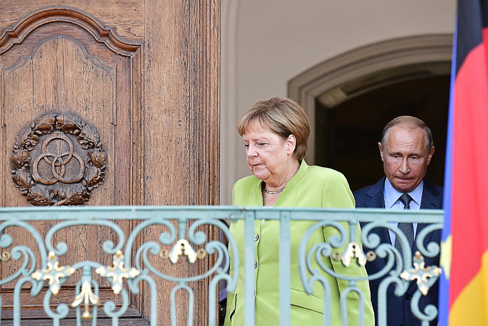 Angela Merkel és Vlagyimir Putyin találkozója a németországi Meseberg-ben 2018-ban #moszkvater