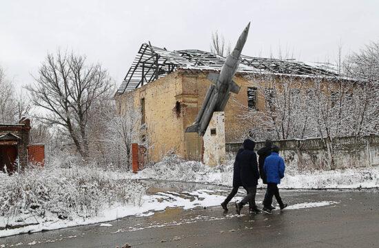 Helyzetkép a Kelet-Ukrajnában található Vesele településen 2021. március 6-án #moszkvater