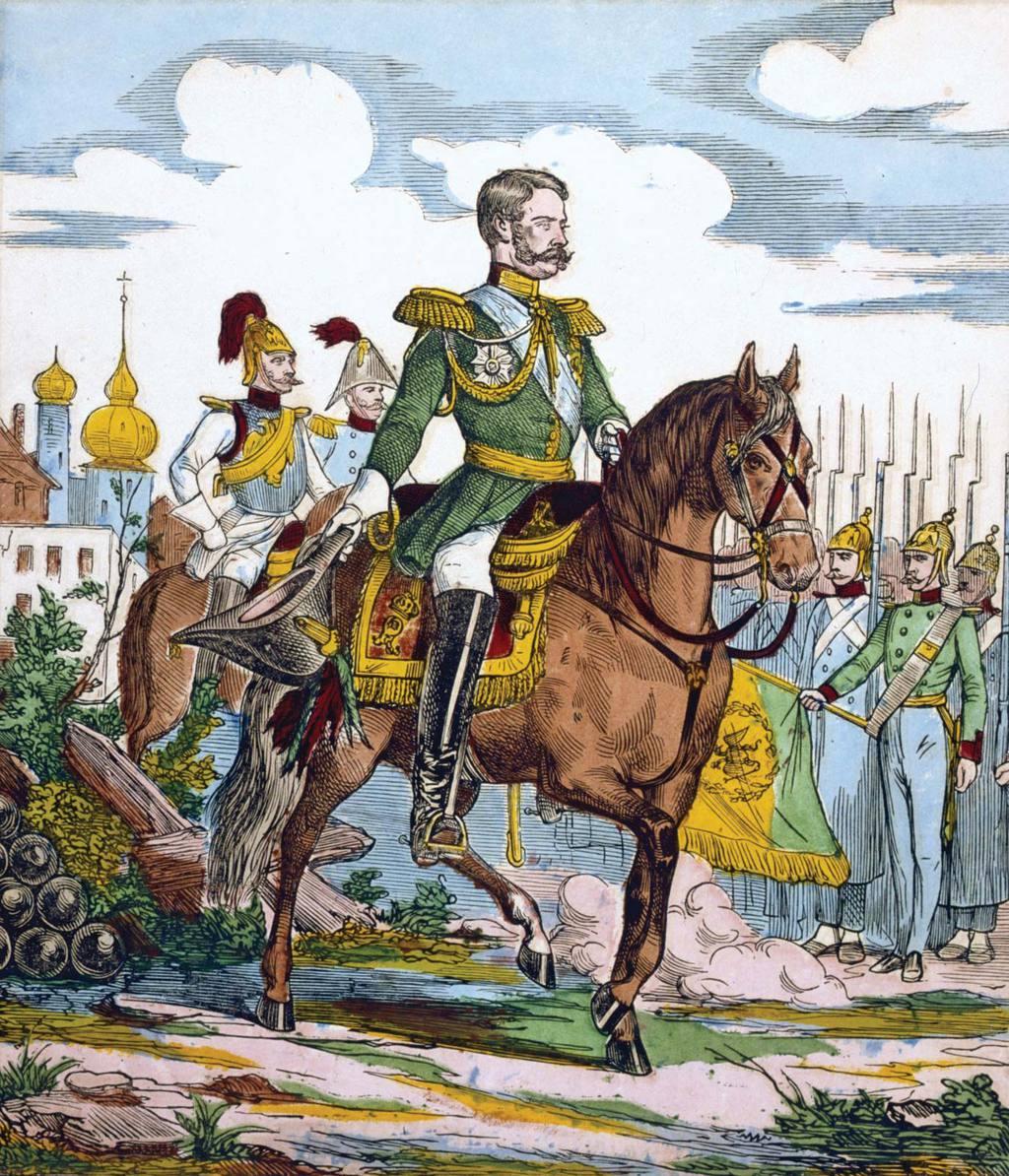 II. Sándor orosz cár egy XIX. századi színezett fametszeten #moszkvater