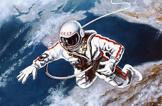 Alekszej Leonov saját maga festményén a Fekete-tenger felett az első űrsétán #moszkvater