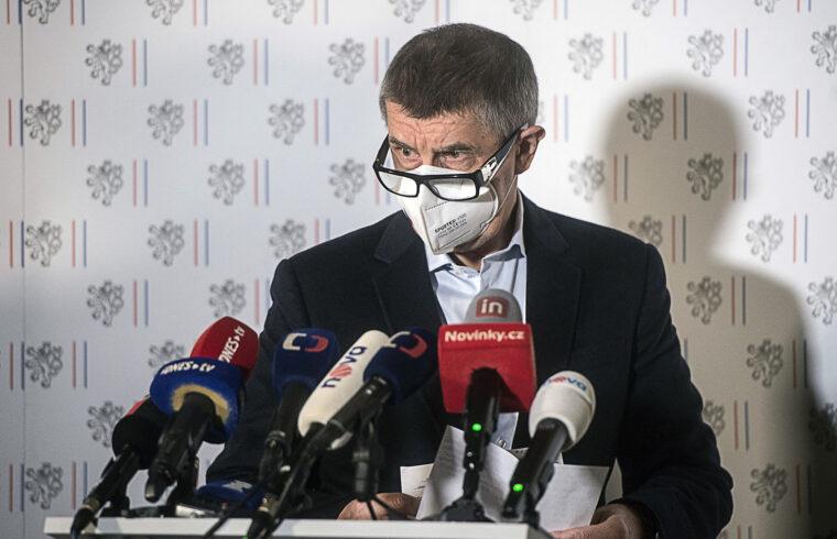Andrej Babis cseh miniszterelnök sajtótájékoztatója 2021. április 17-én Prágában #moszkvater