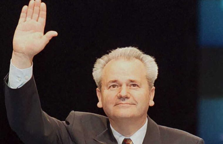 Szlobodan Milosevics a Szerb Szocialista Párt kongresszusán Belgrádban, 1996-ban #moszkvater