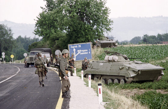 A Jugoszláv hadsereg fegyveresei a szlovén-horvát határon 1991. július 4-én #moszkvater