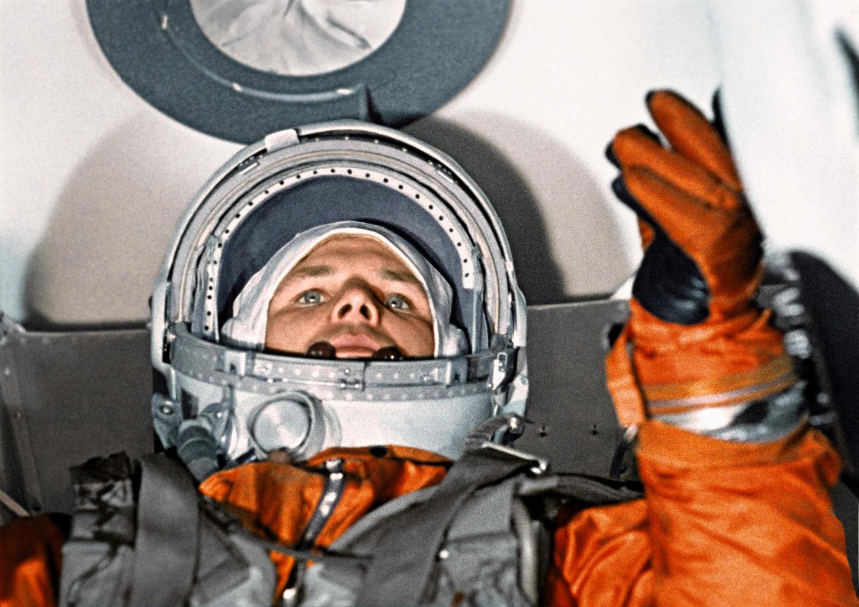 Jurij Gagarin a kilövés előtt 1961-es ürrepülésén #moszkvater