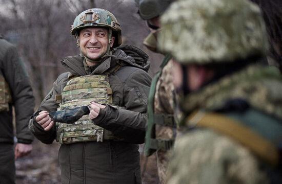 Volodimir Zelenszkij ukrán elnök látogatása a Donbasszban állomásozó ukrán hadsereg csapatainál 2021. február 21-én #moszkvater