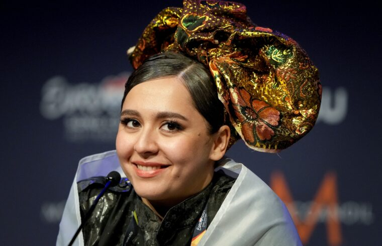 Manizha a rotterdami Eurovíziós dalfesztivál elődöntőjében 2021. május 19-én #moszkvater