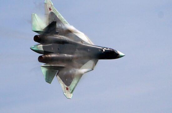 Ötödik generációs Szu-57-es vadászgép gyakorlórepülése Moszkva felett #moszkvater