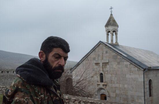 """""""Arcah legfontosabb zarándokhelyét, az Amarasz kolostort csak a november 9 -én bejelentett fegyverszünet mentette meg"""" #moszkvater"""