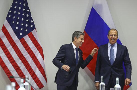 Antony Blinken amerikai és Szergej Lavrov orosz külügyminiszter találkozója Reykjavikban, Izlandon 2021. május 20-án #moszkvater