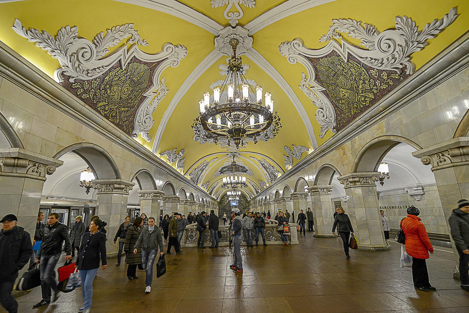 A moszkvai metró Komszomolszkaja állomása #moszkvater