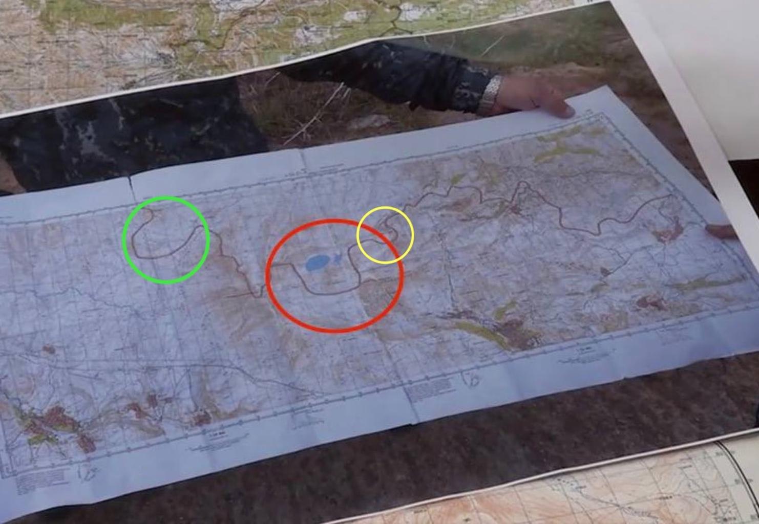 Azeri egységek által a határ kijelölésére használt, láthatóan fals térkép #moszkvater