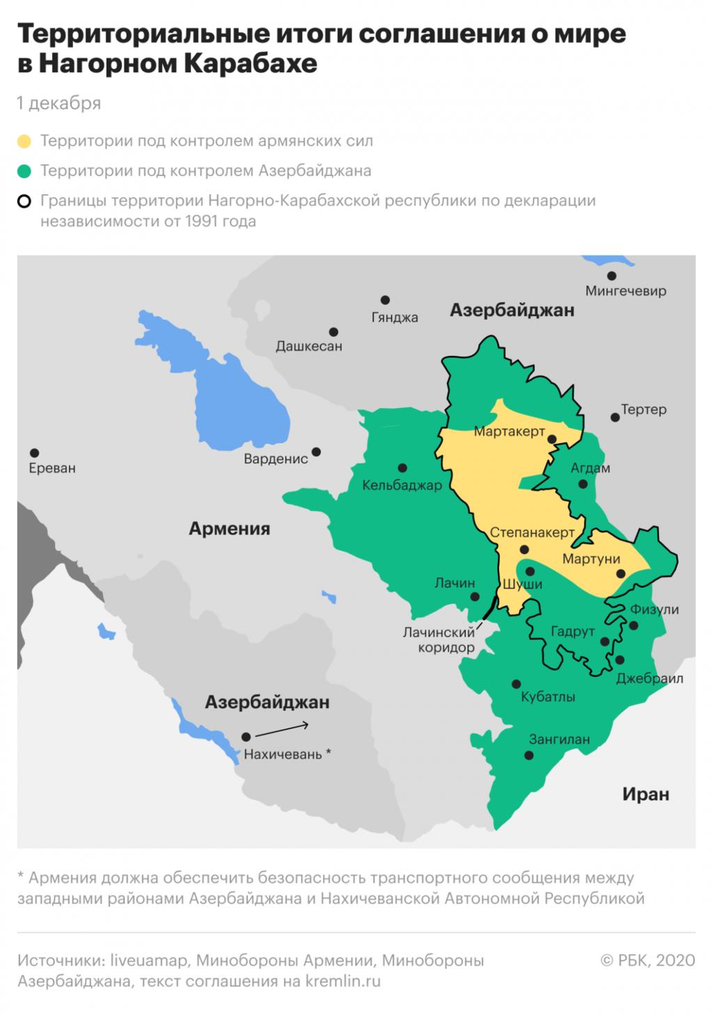 Az Azerbajdzsán által nem kontrollált, világos színnel jelölt területek sorsa lesz kérdéses 2025-t követően #moszkvater