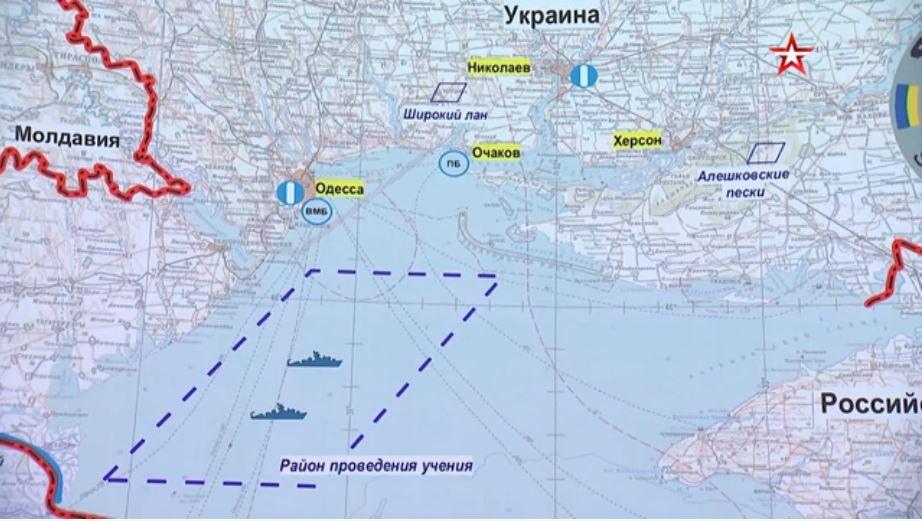 A Sea Breeze 2021 kiterjedése az orosz védelmi minisztérium videója alapján #moszkvater
