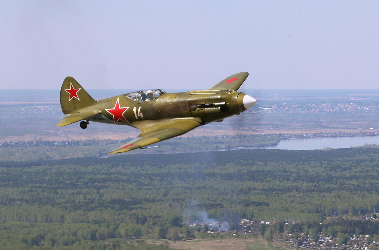 Restaurált Mig 3 repülőgép bemutató repülése Novoszibirkszkben 2020 augusztusában #moszkvater