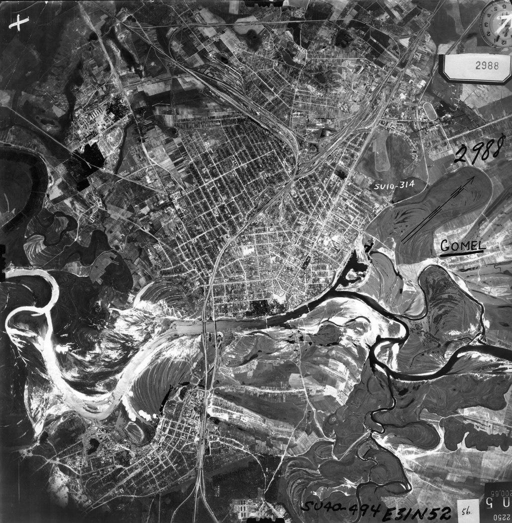 Gomelről készült német légifelvétel 1941-ből #moszkvater